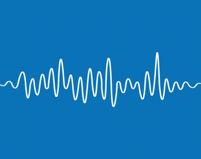 sound waves blue